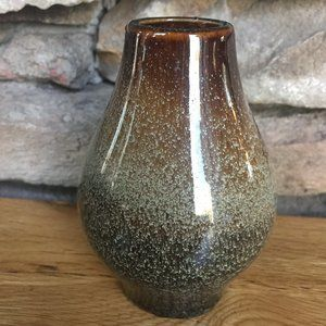 Ceramic Small Bud Vase Ombre Boho Shelf Decor